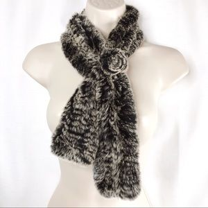 Woman's OS Fur Stole Scarf Very Soft